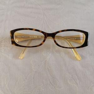 Miu Miu Brown Tortoise Eyeglasses